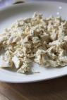 Tofu en pedazos